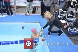 Nastia Liukin and Diana Nyad - 'Swim for Relief' benefiting Hurricane Sandy Recovery at Herald Square - Day 2 -...