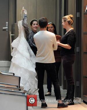 Kevin McHale - 'Glee' star Naya Rivera shopping for her wedding dress at the Monique Lhuillier boutique in Beverly Hills....