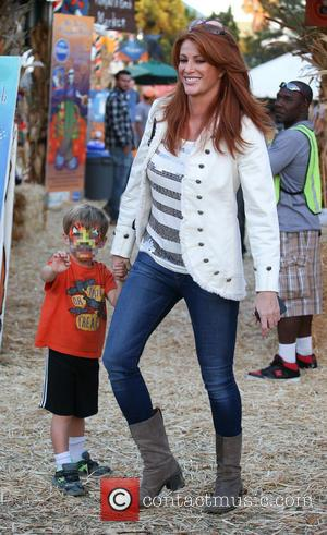 Angie Everhart and Kayden Bobby Everhart - Celebrities visit Mr Bones Pumpkin Patch with their children - Los Angeles, California,...