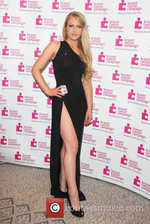Camilla Kerslake - Pink Ribbon Ball in aid of Breast Cancer Campaign at the Dorchester Hotel Park Lane London -...