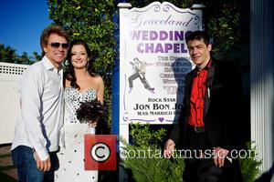 Jon Bon Jovi, Branka Delic and Gonzalo Cladera - Jon Bon Jovi walked Australian bride to be Branka Delic down...