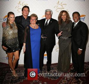 Cassandra Mann, Jeff Tracta, Claude Mann, Jay Leno, Marilyn Mccoo and Billy Davis Jr.