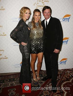 Janet Gretzky, Cassandra Mann and Wayne Gretzky