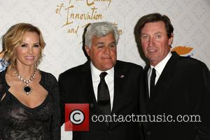 Jay Leno, Janet Gretzky and Wayne Gretzky