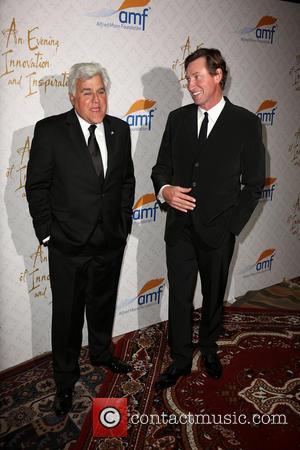 Jay Leno and Wayne Gretzky