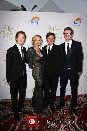Wayne Gretzky, Janet Gretzky and Ty Gretzky