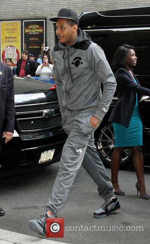 Carmelo Anthony - Celebrities outside the Ed Sullivan Theater for the Late Show with David Letterman. - New York, NY,...