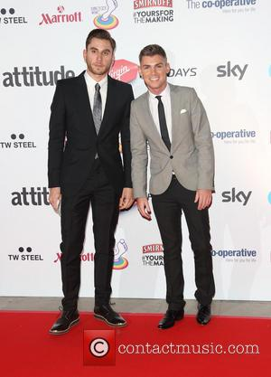 Kieron Richardson and Guest - Attitude Magazine Awards 2013 held at the Royal Courts of Justice - Arrivals - London,...