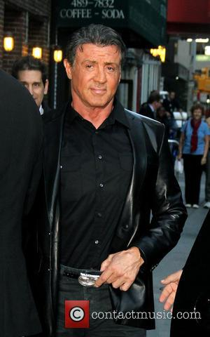 Sylvester Stallone - Celebrities pose for photographers outside The Ed Sullivan Theater, as they arrive for their taping on the...