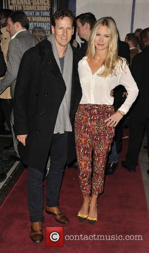 Brendan Cole and Zoe Hobbs - The new cast of 'The Bodyguard' at the Adelphi Theatre - Arrivals - London,...