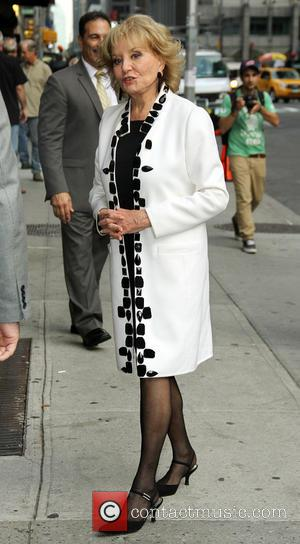Barbara Walters - Celebrities at the Ed Sullivan Theater for the the 'Late Show with David Letterman' - New York,...