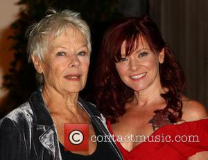 Dame Judi Dench and Finty Williams - Guests arrive for the Shakespeares Globe Gala Dinner in London - London, United...