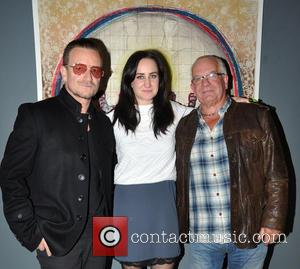 Bono, Leah Hewson and Norman Hewson - U2's Bono at the launch of his niece, Leah Hewson,  new art...
