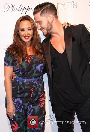 Leah Remini and Valentin Chmerkovskiy - Celebrities attend a Valentin Clothing Line event - Arrivals - Los Angeles, CA, United...