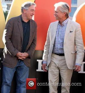 Robert De Niro and Michael Douglas - Cast members from CBS Films' 'Last Vegas' attend the presentation to the cast...