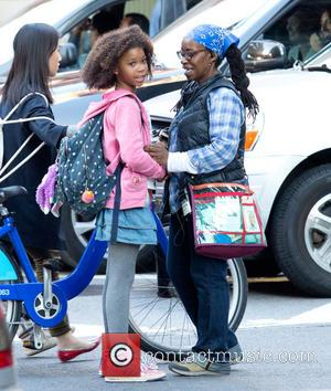 Quvenzhané Wallis - On Location with Annie - New York, NY, United States - Saturday 19th October 2013