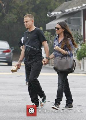 Alanis Morissette and Mario Treadway - Alanis Morissette and her husband Mario Treadway out and about in Brentwood - Los...