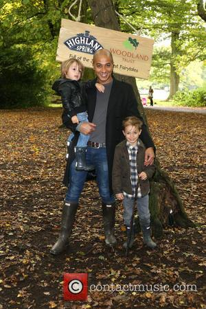 Jade Jones, sons Tate and Beau - Forest Fairytales - launch event held in Highgate Woods - London, United Kingdom...