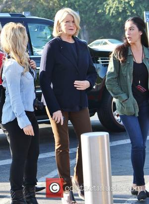Martha Stewart - Martha Stewart appears on 'Extra' filming on location at Universal City Walk - Los Angeles, CA, United...
