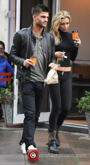 Aljaz Skorjane and Abbey Clancy