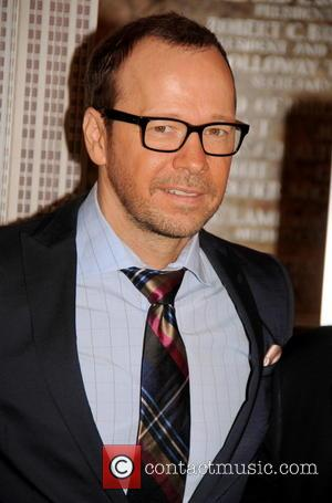 Donnie Wahlberg - Donnie Wahlberg lights the Empire State Building in red, white and blue in honour of the New...