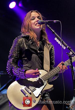 Lzzy Hale - American rock band Halestorm performing live in concert at the Manchester Arena - Manchester, United Kingdom -...
