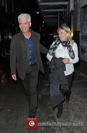 Phillip Schofield and Stephanie Lowe - Celebrities leave J. Sheekey Oyster Bar restaurant - London, United Kingdom - Tuesday 22nd...