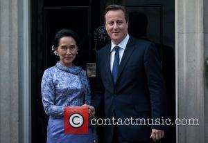 Aung San Suu Kyi and David Cameron
