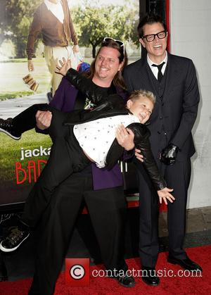 Guest, Jackson Nicoll and Johnny Knoxville