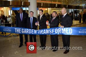 Willis Reed, Hank Ratner, Andrew Cuomo, Jim Dolan and Mark Messier