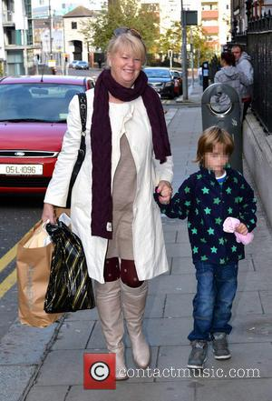 Miriam Ahern with grandson - Proud new father Nicky Byrne arrives at Holles Street Maternity Hospital with his twin boys...