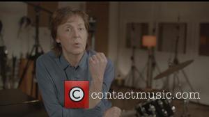 Paul McCartney - Sir Paul McCartney and many famous celebrities on the set of the 'Queenie Eye' video featured on...