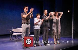 Paul Anthony Stewart, Frankie Seratch, David Hyde Pierce and Julia Murney