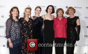 Penelope Wilton, Phyllis Logan, Myanna Burring, Cara Theobold, Michelle Dockery and Samantha Bond