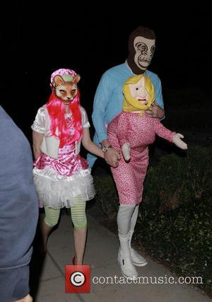 Isla Fisher and Sascha Baron Cohen - Celebrities attend Mike Meldman's Annual Halloween Party in Beverly Hills - Los Angeles,...