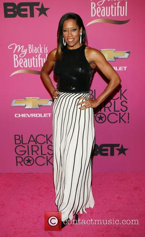 Regina King - BET Black Girls Rock CoverGirl Style Stage on the Red Carpet at New Jersey Performing Arts Center...