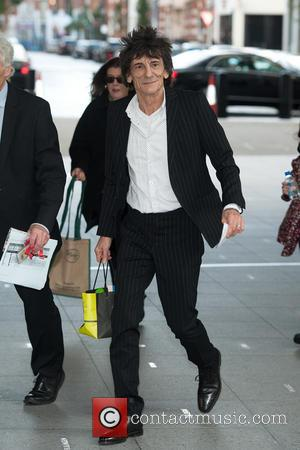 Ronnie Wood - The Andrew Marr Show at the BBC Studios in Central London - Outside Arrivals - London, United...