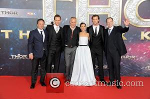 Chris Hemsworth, Tom Hiddleston, Alan Taylor, Natalie Portman, Louis D Esposito and Kevin Feige