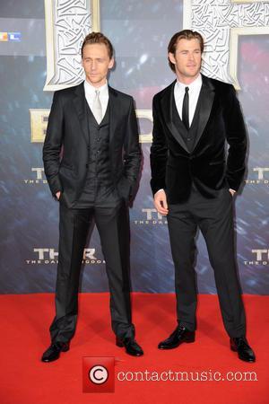 Tom Hiddleston and Chris Hemsworth - German premiere of 'Thor - The Dark Kingdom' at Cinestar am Potsdamer Platz movie...
