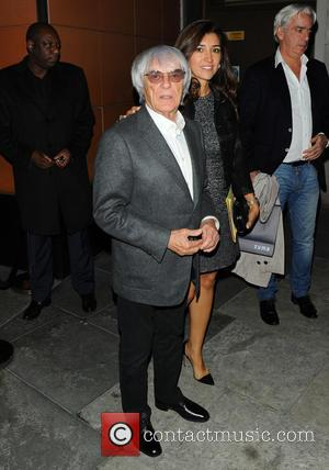 Bernie Ecclestone and Fabiana Flosi - Tamara, Petra, and Bernie Ecclestone and their partners leaving Zuma restaurant - London, United...