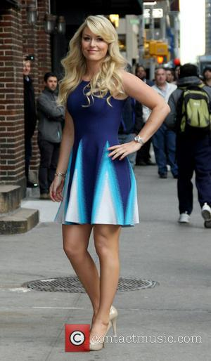 Lindsey Vonn - Celebrities outside The Ed Sullivan Theater for the taping on the Late Show With David Letterman -...