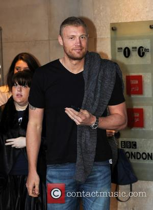 Andrew Flintoff - Andrew Flintoff at the BBC Radio 1 studios - London, United Kingdom - Tuesday 29th October 2013