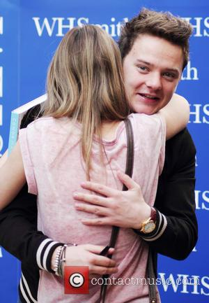 Conor Maynard - Conor Maynard meets fans and signs copies of his new book 'Take Off' at WHSmith in Westfield...