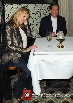 Charles Saatchi and Susannah Constantine - Charles Saatchi dines with Trinny Woodall and Susannah Constantine at Scott's in Mayfair -...