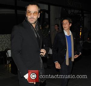 Tom Ford and Guest - Tom Ford leaving Scott's restaurant with a friend - London, United Kingdom - Tuesday 29th...