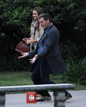 Jessica Alba and Pierce Brosnan