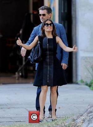 Salma Hayek and Pierce Brosnan