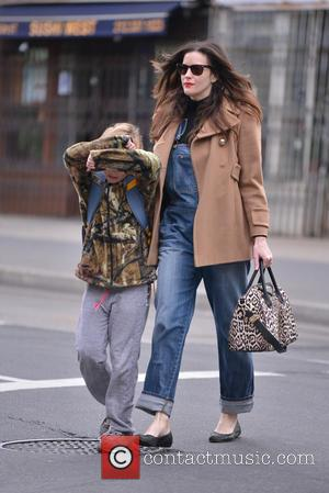 Liv Tyler and Milo Langdon - Liv Tyler on the school run for her son Milo Langdon - New York...