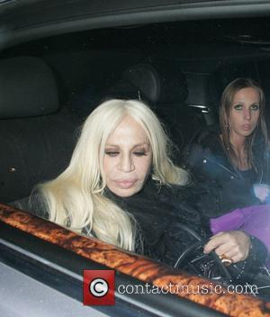 Donatella Versace - British Olympic Ball held at The Dorchester hotel - Departures - London, United Kingdom - Wednesday 30th...