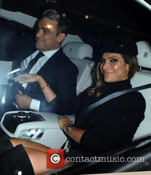 Ayda Field and Robbie Williams - Unicef Halloween Ball held at One Mayfair - Departures - London, United Kingdom -...